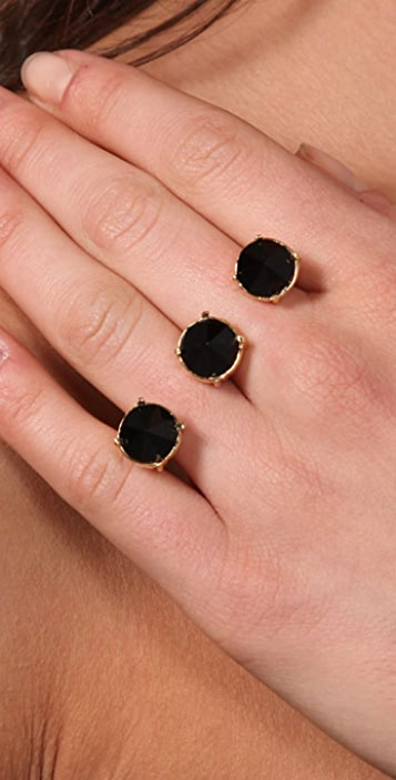 Bop Bijoux Inverted Rhinestone Double Knuckle Ring