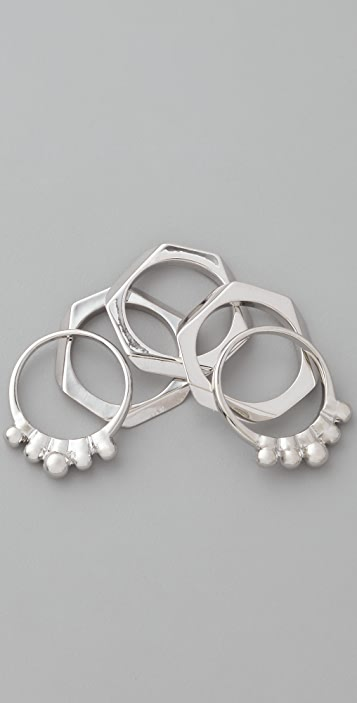 Bop Bijoux Angular Ring Set