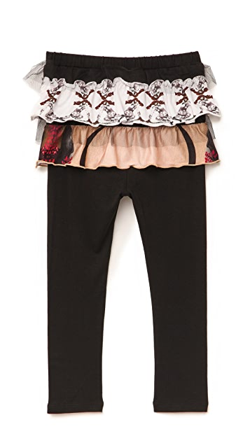 Born Free Vera Wang Child's Skirted Leggings