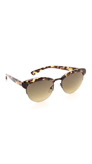 Bottega Veneta Rimless Bottom Sunglasses