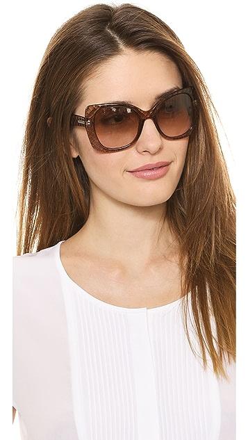 Bottega Veneta Butterfly Sunglasses