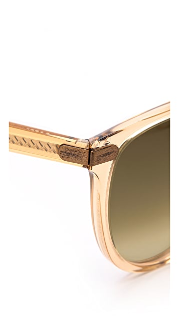 Bottega Veneta Round Cat Eye Sunglasses