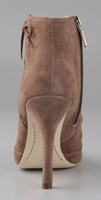 Boutique 9 Hey Now Draped Suede Booties