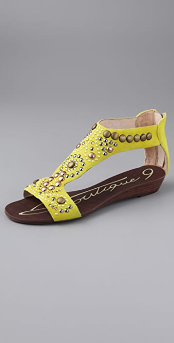 Boutique 9 Glory Jeweled Suede Sandals