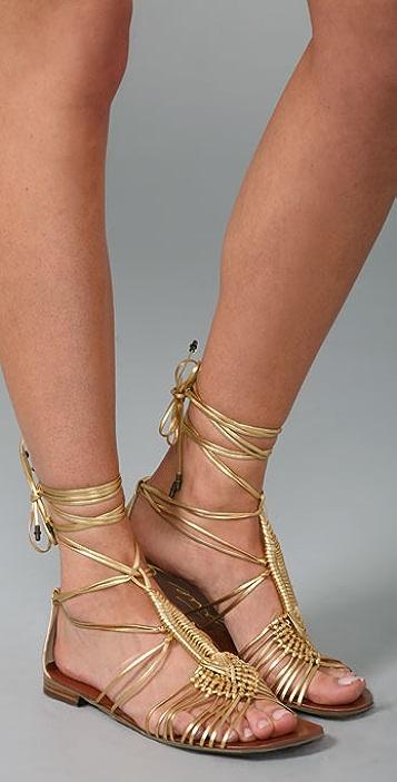 Boutique 9 Pye Macrame Flat Sandals