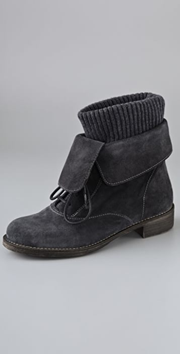 Boutique 9 Napolita Suede Booties with Wool Cuff