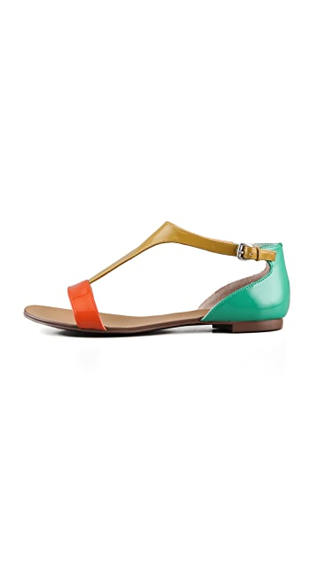 Boutique 9 Piraya Multicolor T Strap Sandals
