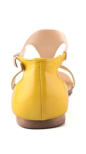 Boutique 9 Piraya Multicolor T Strap Sandals