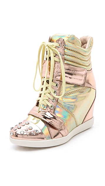 Boutique 9 Nevan Wedge Splatter Sneakers