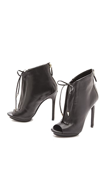 Boutique 9 Orrino Lace Up Open Toe Booties