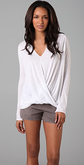 Brochu Walker Draped V Neck Top