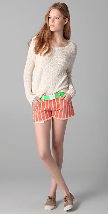 Brochu Walker Long Sleeve Asymmetrical Sweater
