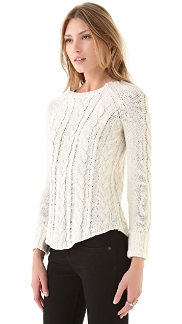 Brochu Walker Textured Shirttail Raglan Sweater