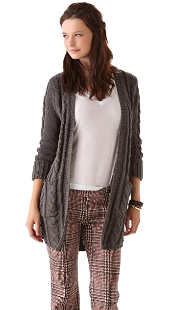 Brochu Walker Shirttail Cardigan