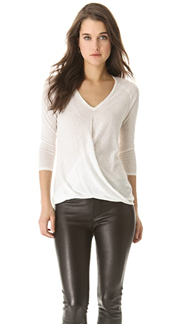 Brochu Walker Draped V Sweater