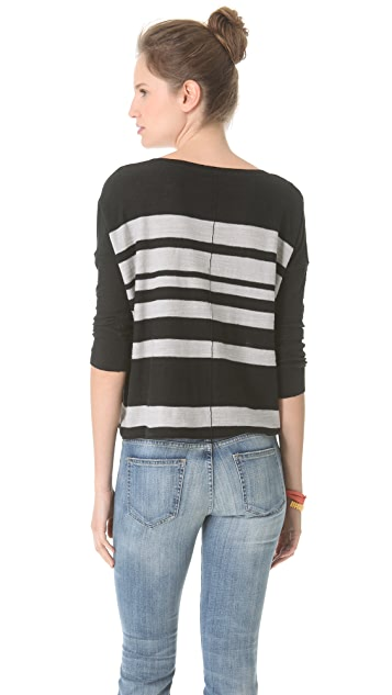 Brochu Walker Striped Dolman Top