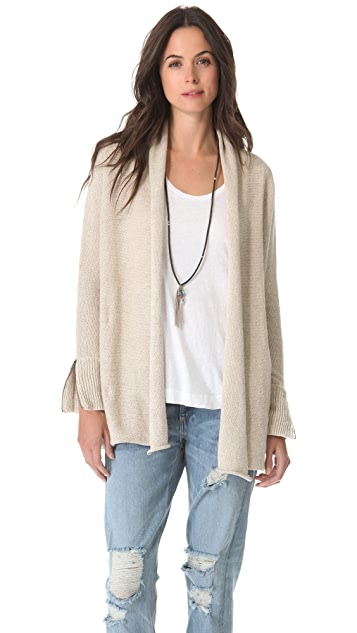 Brochu Walker Beach Linen Cardigan