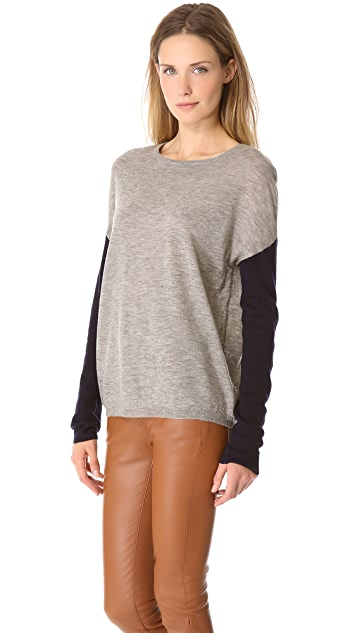 Brochu Walker Contrast Sleeve Crew Sweater