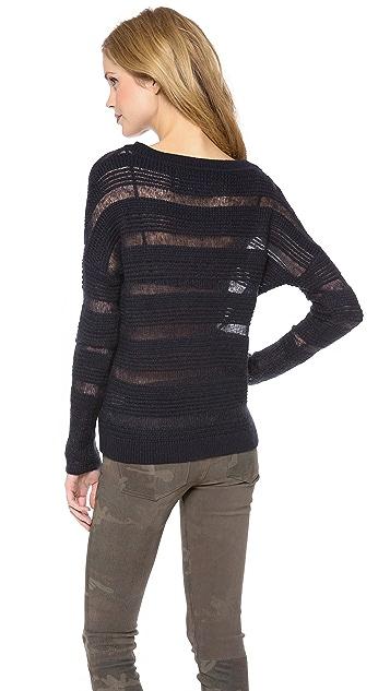 Brochu Walker Textured Boat Neck Sweater