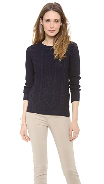 Brochu Walker Fisherman Cable Sweater