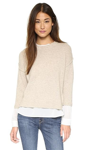 Brochu Walker Многослойный свитер Looker с округлым вырезом
