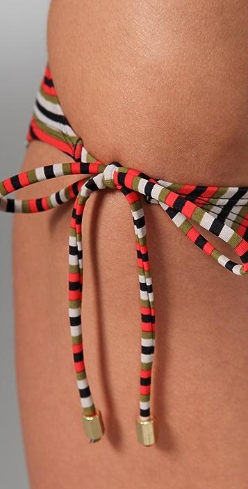 Brette Sandler Swimwear Gina Striped Triangle Bikini