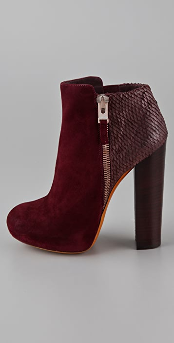 B Brian Atwood Paramour Suede High Heel Booties