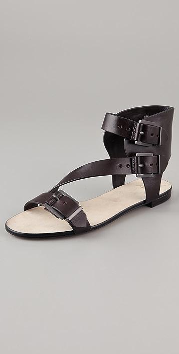 B Brian Atwood Deja Vu Flat Sandals