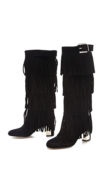 B Brian Atwood Pallazo Fringe Boots