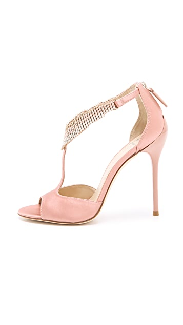 B Brian Atwood Loreto Crystal Sandals