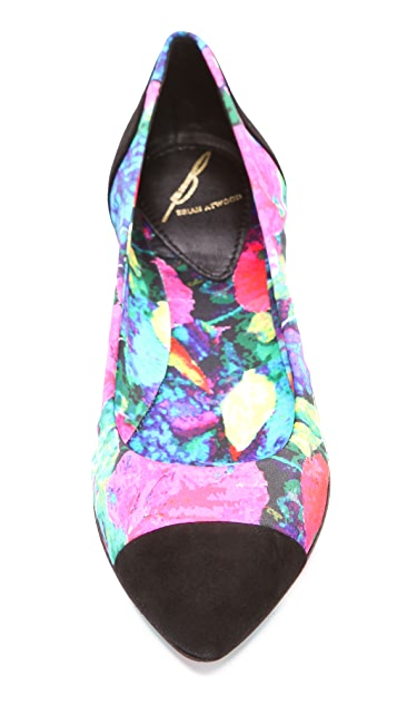 B Brian Atwood Avignon Floral Flats