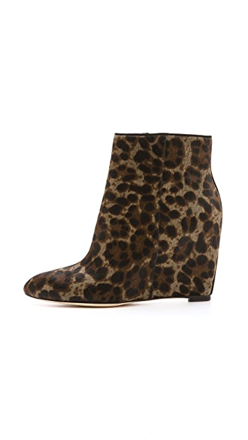 B Brian Atwood Bellaria Wedge Haircalf Booties