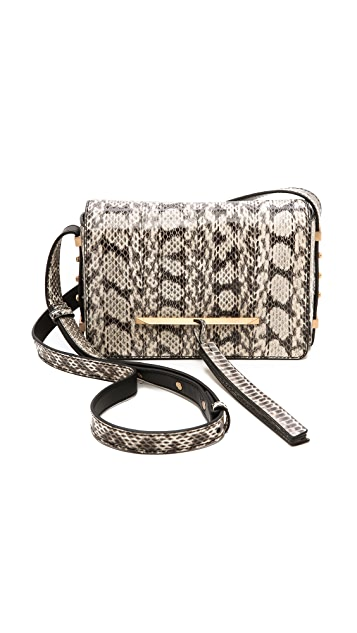 B Brian Atwood Snakeskin Cross Body Bag