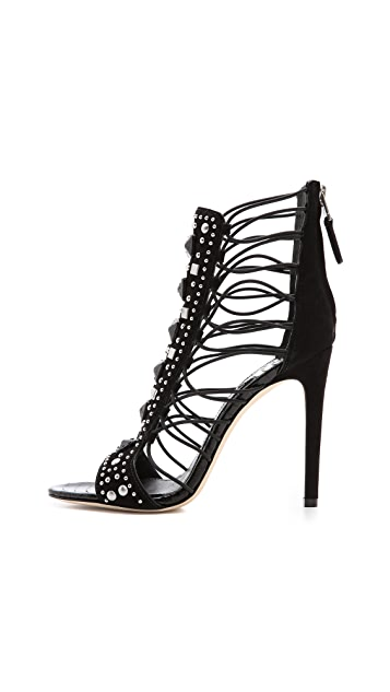 B Brian Atwood Lalouche Lace Up Sandals
