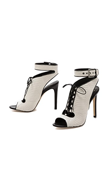 B Brian Atwood Lodosa Ankle Strap Lace up Bootie