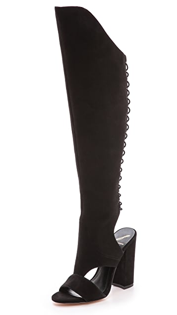 B Brian Atwood Brissa Open Toe Laced Boots