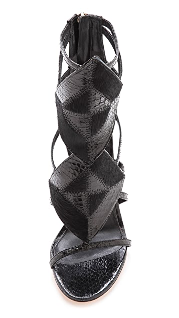 B Brian Atwood Luanna Caged Sandals