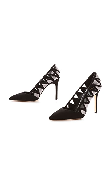 B Brian Atwood Nicollete Cutout Pumps