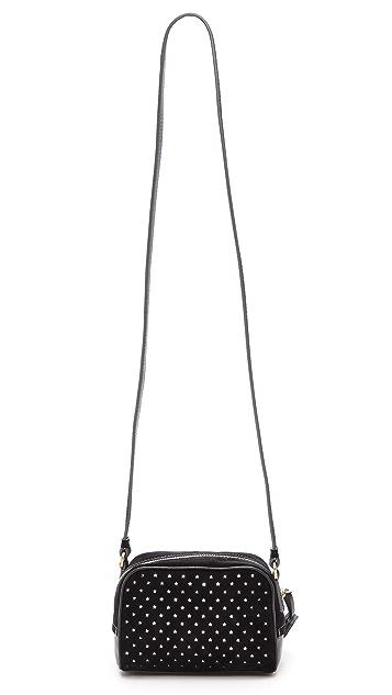 B Brian Atwood Perforated Barbara Cross Body Bag