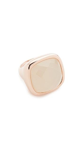 Bronzallure Faceted Square Stone Ring