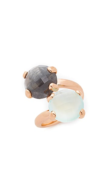 Bronzallure Contrarie Ring with Briolette Faceted Stones