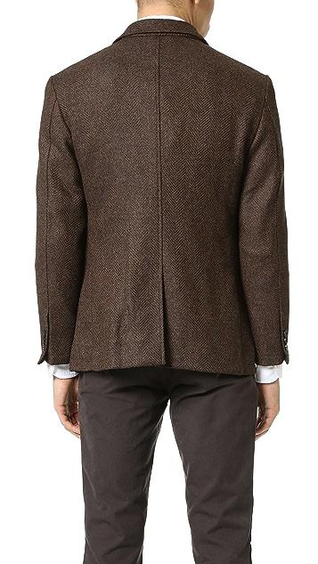 Brooklyn Tailors Unstructured Herringbone Tweed Jacket