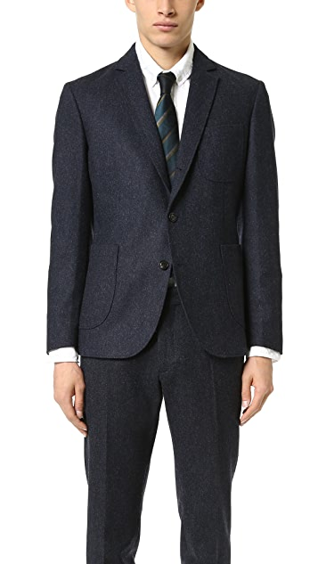 Brooklyn Tailors Unstructured Tweed Herringbone Jacket