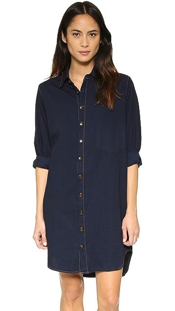 Basic Terrain Button Down Shirtdress