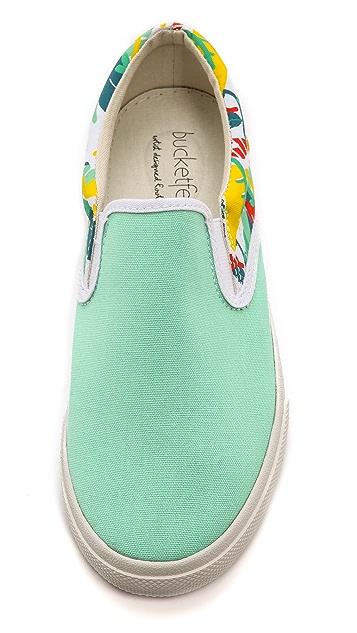 BucketFeet Tropical Slip On Sneakers