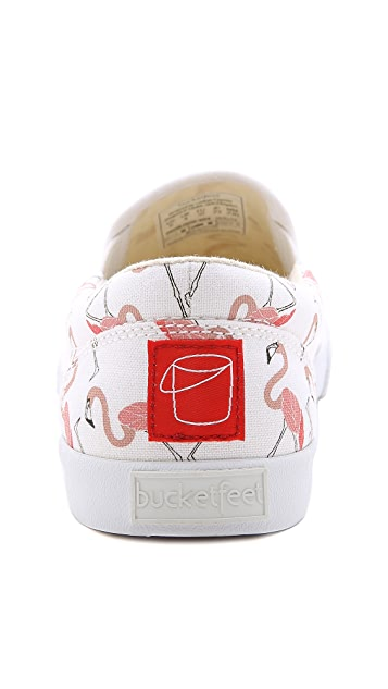BucketFeet Flamingos Slip On Sneakers