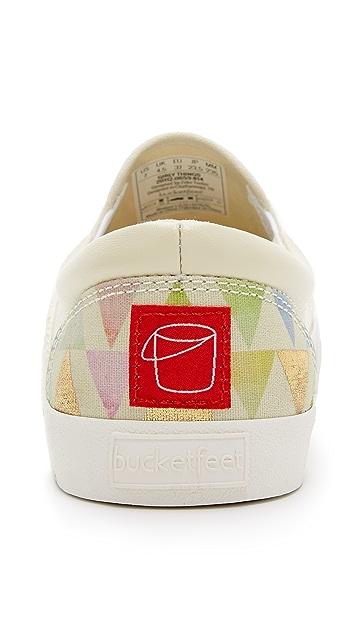 BucketFeet Girly Things Slip On Sneakers