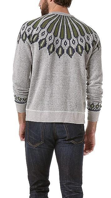 Burkman Bros. Nordic Pattern Fleece Pullover