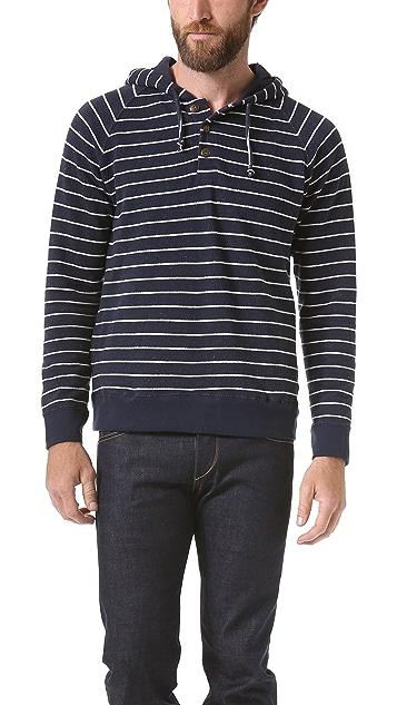 Burkman Bros. Horizontal Stripe Zip Hoodie