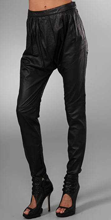 By Malene Birger Chicoree Leather Harem Pants